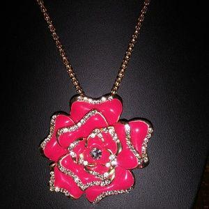 Betsey Johnson Jewelry - Betsey Johnson's red crystal pendant